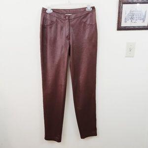 Bebe | Dark Brown Pleather Faux Leather Pants